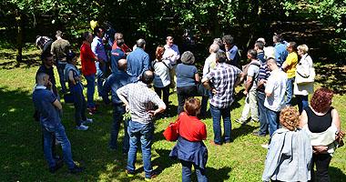 lezione esterna partecipanti corso tartufai brescia
